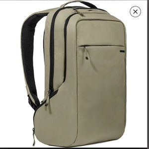 NWT INCASE Icon Slim Backpack green and black